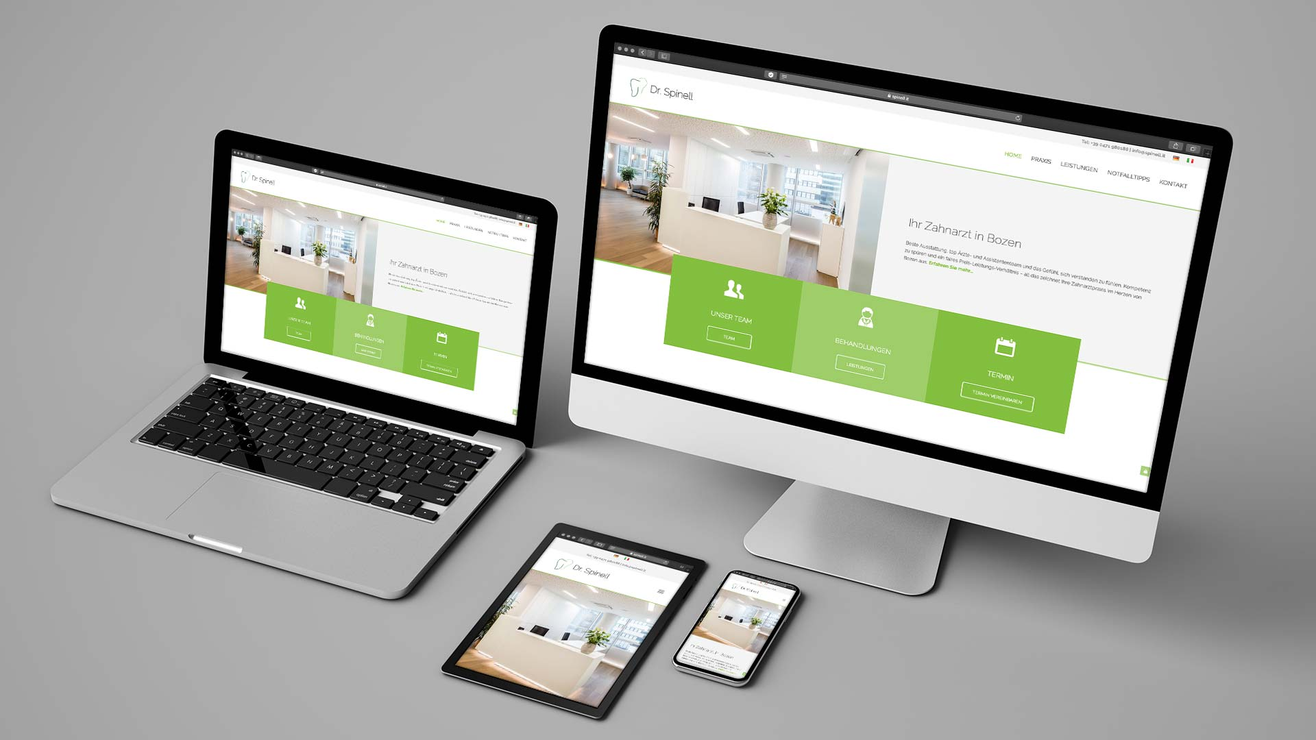 Dr. Spinell Webdesign by TM BRANDING in Wien