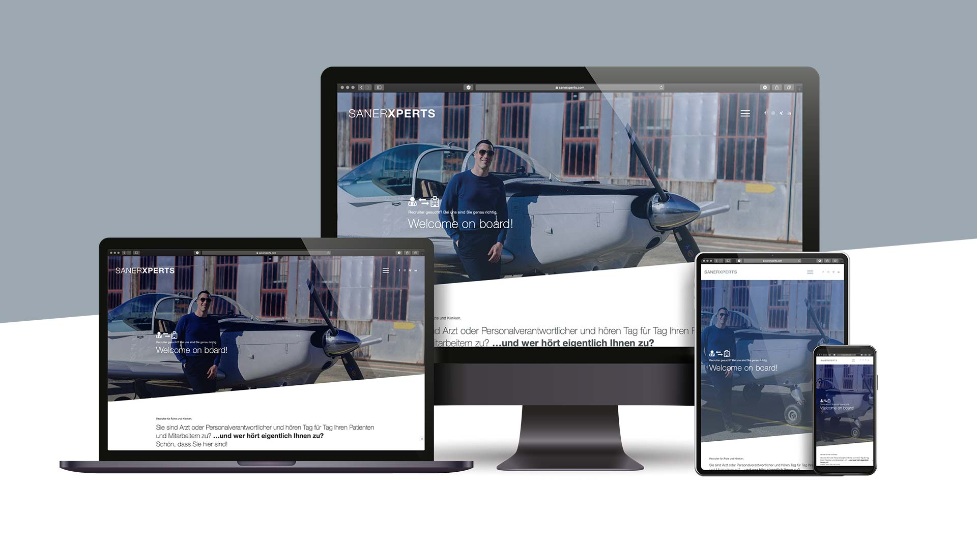 SANERXPERTS Webdesign by TM BRANDING