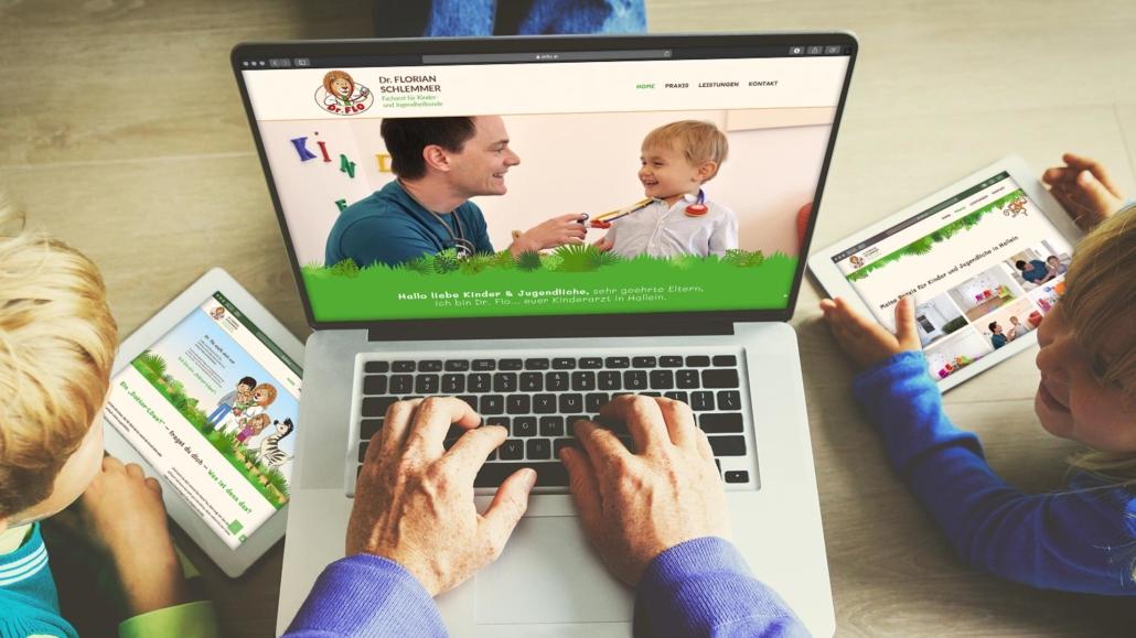 Dr. Flo Kinderarzt Hallein - Webdesign by TM BRANDING in Südtirol