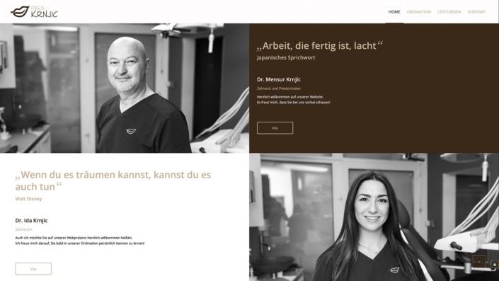 Dres. Krnjic Zahnarzt Webdesign