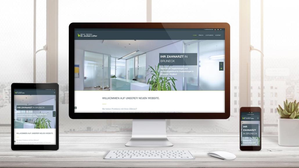 Webdesign für Dr. Lüfter - Südtirol