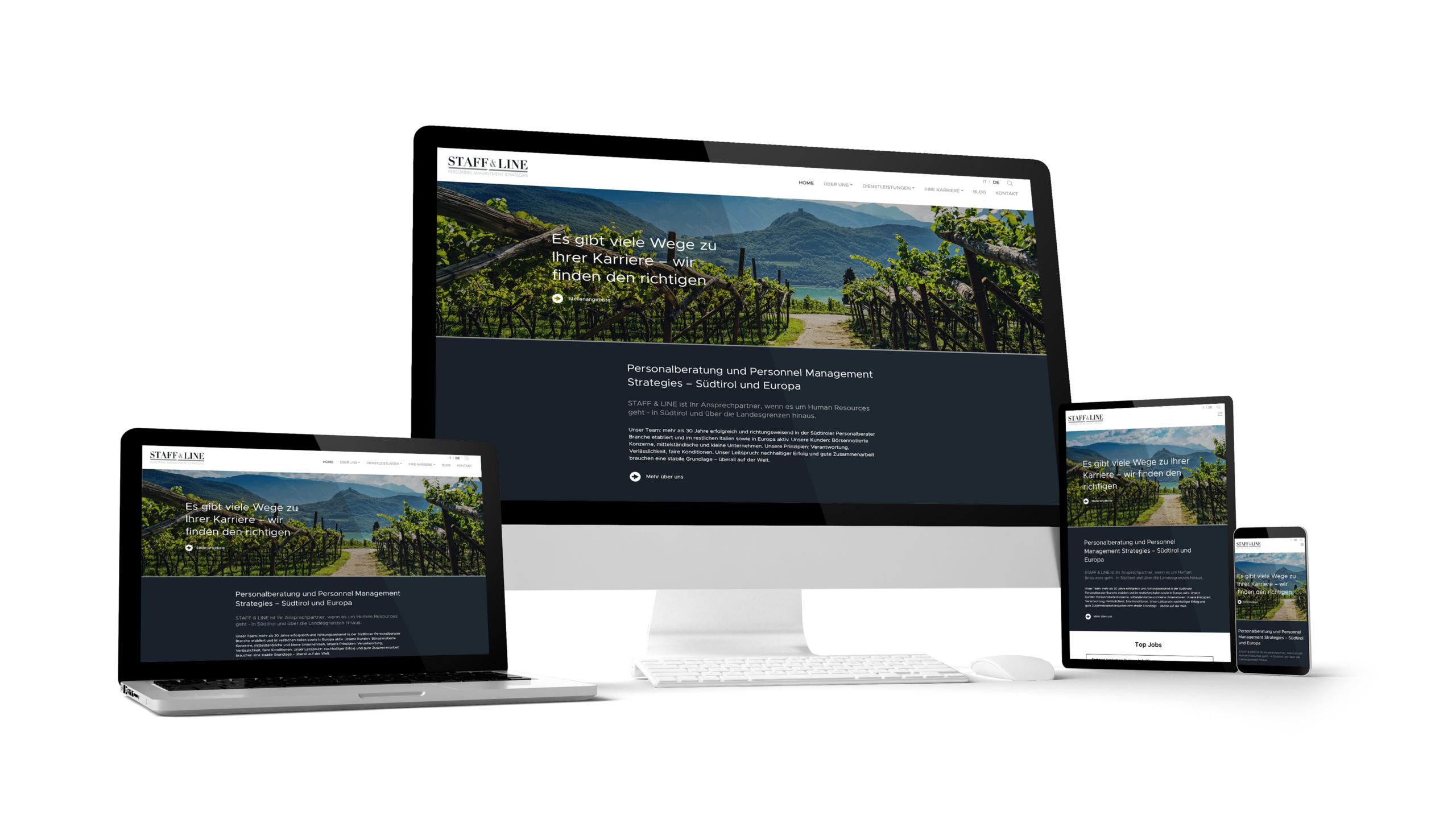 Staff & Line Südtirol Webdesign